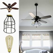 crazy wonderful diy cage light ceiling fan diy pinterest