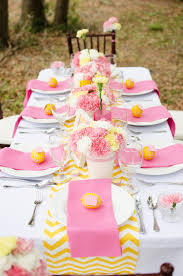Wedding Shower Ideas by Easy Pink And Yellow Bridal Shower Ideas You Can Recreate U2014 Event 29