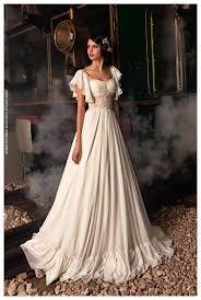 chiffon wedding dress discount 2015 vintage chiffon wedding dresses scooped cap