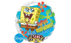 singing happy birthday singing happy birthday spongebob balloon party city