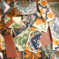 broken tiles per pounds to make mosaics backsplash floor use 004