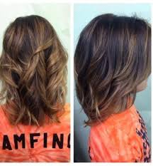 partial hi light dark short hair balayage ombre short wavy hairstyle hairstyles for dark brown hair