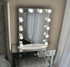 Table Top Vanity Mirror Hollywood Makeup Vanity Mirror All Glass With Dimmer Tabletop Or