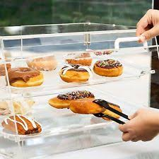 Glass Display Cabinet For Cafe Bakery Display Case Ebay