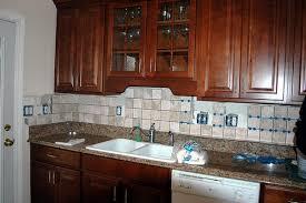 ceramic tile backsplash ideas for kitchens ceramic tile backsplash with granite countertops granite