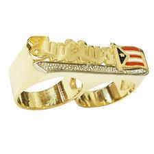 two finger name ring 14k gold name ring ebay