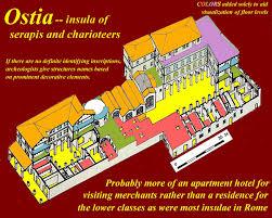 roman insula floor plan unit 9 rome daily life overhead slides alriancromunit9slides html