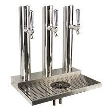 Stainless Steel Beer Faucet Beer Station Skyline Beer Station 3 Faucet Polished Stainless
