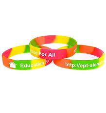 design silicone bracelet images Multi coloured debossed silicone wristbands with colour filled text jpg