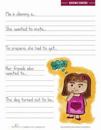 sentence writing prompts worksheet education com