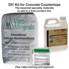 Diy Kit by Diy Kit Makes 60 80 Sq Ft Concrete Countertop Institute