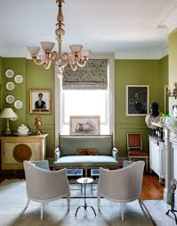 interior green color scheme idea applied in glamorous house