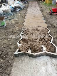 diy pavement mold for pathways for your garden