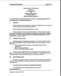 sample mou agreement resume guide stanford