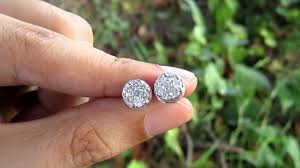 illusion earrings diamond 1 20 carat illusion diamond gold earrings