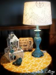 Lamp Shades Diy The Concrete Cottage Diy French Script Lamp Shade