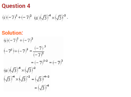 exponents and powers ncert extra questions for class 8 maths