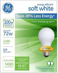 ge energy efficient soft white 72 watt light bulb 2 ea walmart com