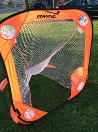 find more brine pop up lacrosse goal with travel bag 4 u0027 x 4 u0027 for
