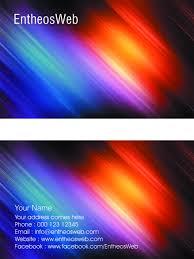 free business card template design u2013 streaks of light entheos