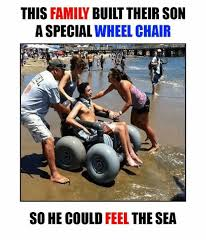 Wheelchair Meme - this family built their son a special wheelchair so he could feel