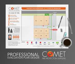 Fire Evacuation Plan Office by Evacuation Plans U2013 Comet Fire Protection Suppliers