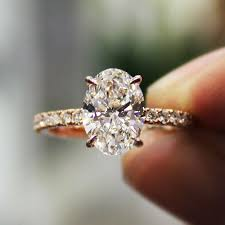 oval cut diamond 2 30 ct oval cut pave diamond engagement ring