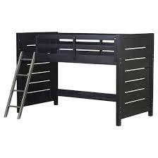 graphite collection mid height loft bed kit ends rails ladder