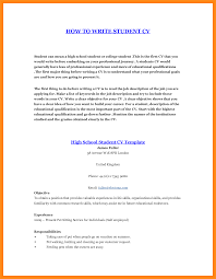 Student First Resume 10 How To Make Cv For Student Parts Of Resume