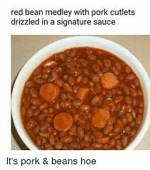 Meme Medley - red bean medley with pork cutlets drizzled in a signature sauce it s