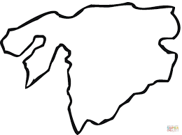 Asia Map Outline by Coloring Pages Asia Map Page Printable For Kids Maxvision