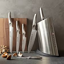 set of kitchen knives global sai 7 knife block set williams sonoma