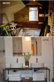 before and after photo part of this old seattle area attic