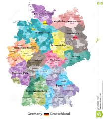 Germany Map Freiburg by Germany Map Colored By States And Administrative Districts With
