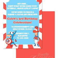 eccentric designs boy birthday party invitations