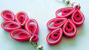 Make Beautiful by New Art Craft How To Make Beautiful Quilling Earring Pink