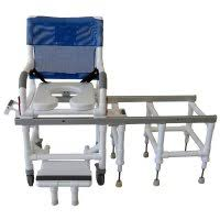 Invacare Tub Transfer Bench Padded Commode Opening Sliding Swivel Transfer Benches