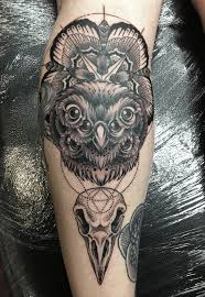 21 best geometric owl tattoo images on pinterest geometric owl