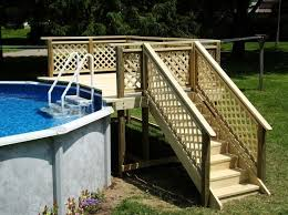 awesome wood decks for above ground pools inspirations wooden