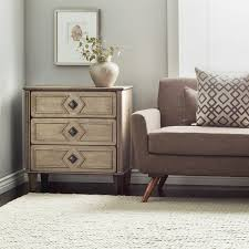 i love living grey weathered 3 drawer 30 inch side table free