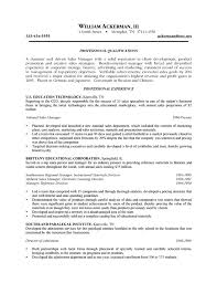 recruiter Sales Resume Example qualifications profile Sales Resume Example professional qualifications     SinglePageResume com