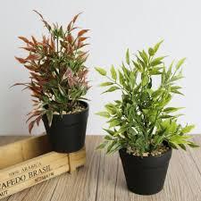 plante bureau plante artificielle en pot plantes simulation fleur bonsaï bureau