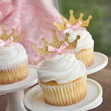 Gold And Pink Party Decorations Amazon Com Tiara Cupcake Toppers 12ct Pink And Gold Birthday