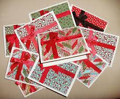 super quick and easy fabric christmas cards notions the