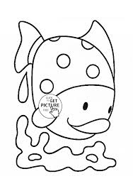 cute tropical fish coloring page for kids animal coloring pages