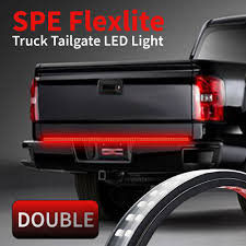 amazon com 60 inch 2 row led truck tailgate light bar strip red