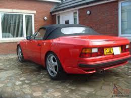 stanced porsche 944 1989 porsche 944 s2 convertible guards red
