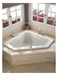 Corner Whirlpool Bathtub Faucet Com J5d6060wcr1xxw In White By Jacuzzi