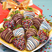 White Chocolate Covered Strawberry Box Send A Sweet Birthday Wish With A Box Of Twelve Huge California