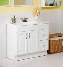 White Bathroom Vanity With Granite Top by Magnificent Bamboo Bathroom Vanity Double Sink Mounted On The